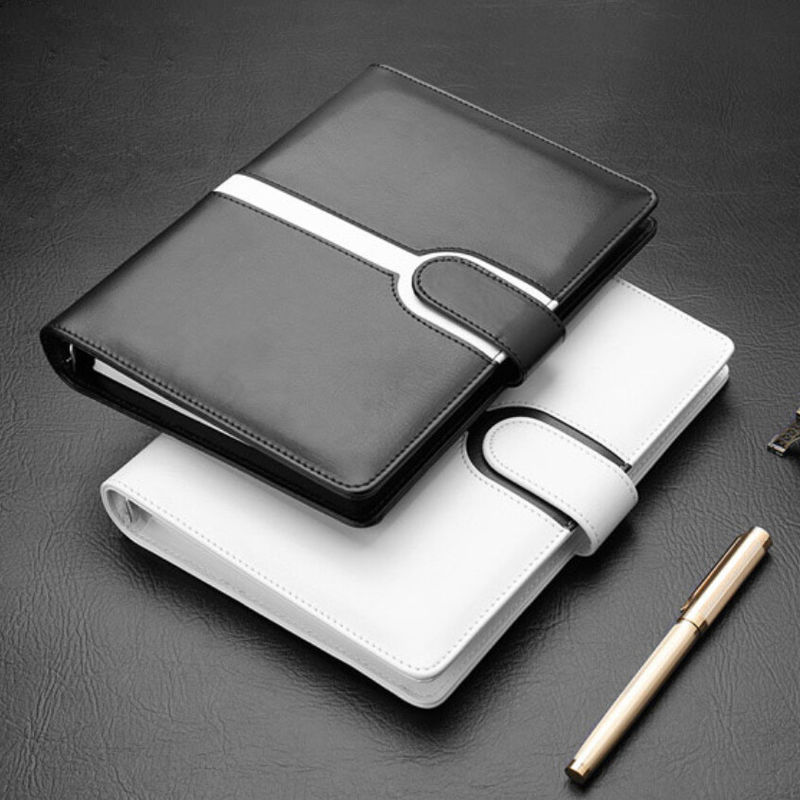 Elegant Luxurious Leather Notebook Binder , Loose Leaf Spiral Notebook Size 175 * 250mm