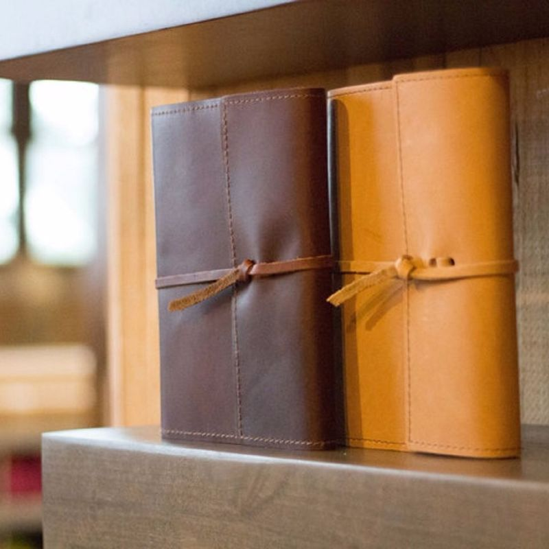 A5 Vintage Leather Bound Journal , Soft Travel Notes Journal For Men Present