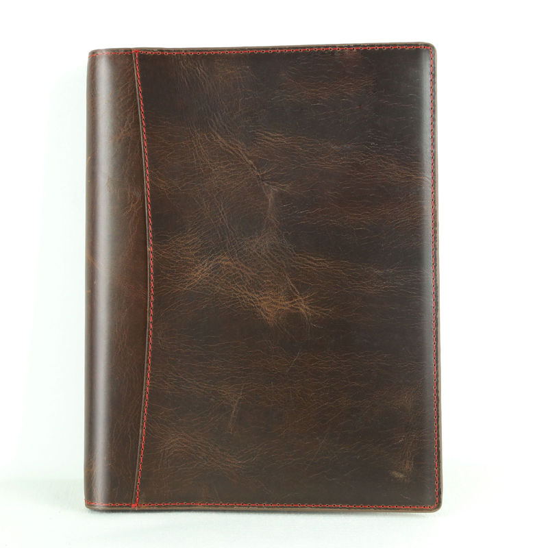 Thick Personalized Leather Journal , 6 Ring Journal Binder For Executive Business